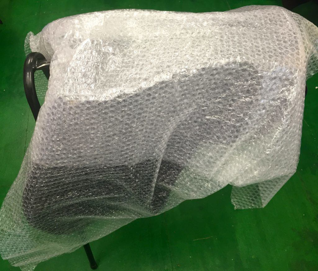 The saddle will need to be wrapped in an generous supply of bubble wrap to protect it in transit taking particular care when covering the pommel and cantle area.