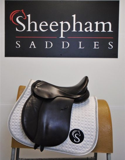 #SC1117# Brown 16″ English Leather MW Fit GP Saddle – USED Unbranded