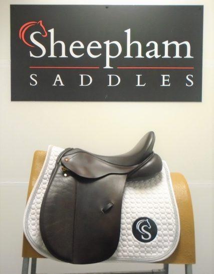 #2253# Brown 17″ English Leather Albion XW Fit K2 Legend VSD Adjusta Saddle – USED Albion Saddles