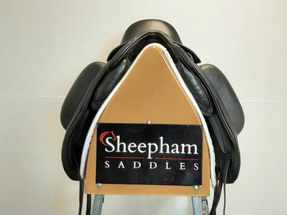 Fairfax Gareth Dressage Saddle 18″ Adjustable Black – #SC1346#